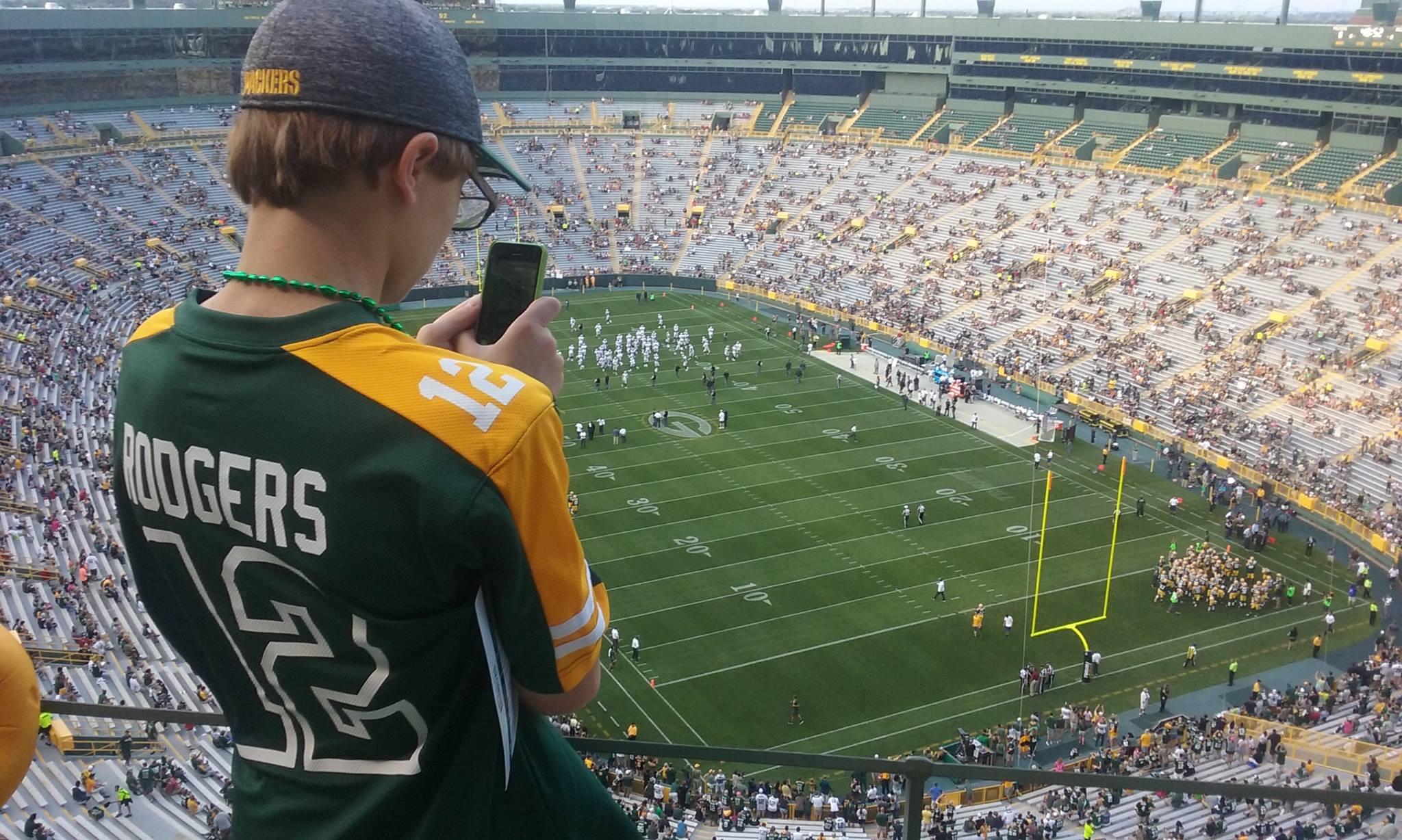 File photo. Green Bay Packers at Lambeau Field, Ashwaubenon, Wisconsin.