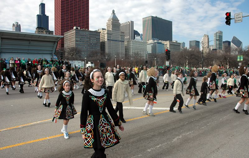 St. Patrick's Day parade. City of Chicago photo.