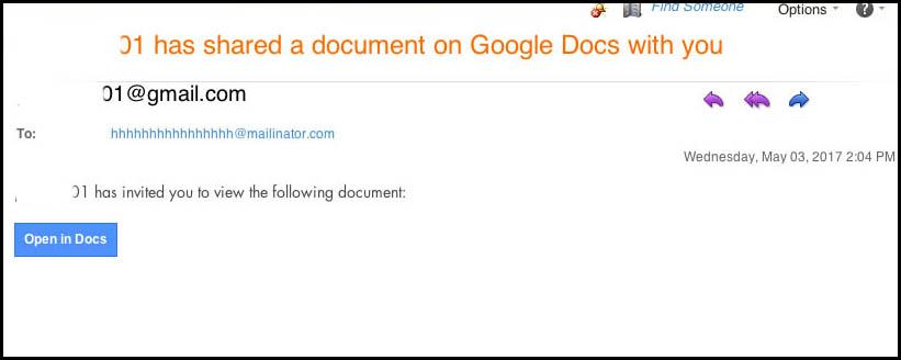 Google Doc hack