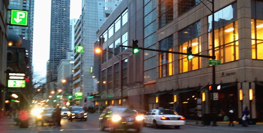 Grand Avenue, Chicago. Photo by Dan Plutchak/Gold Coast Shore Report