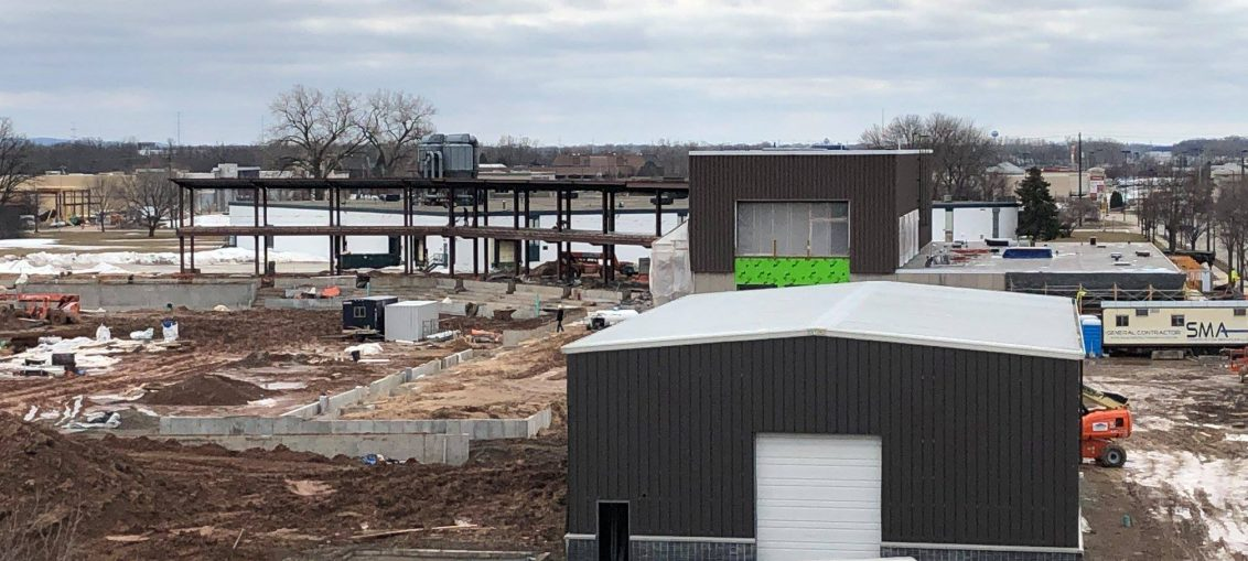 Capital Credit Union Park under construction, March 2019.
