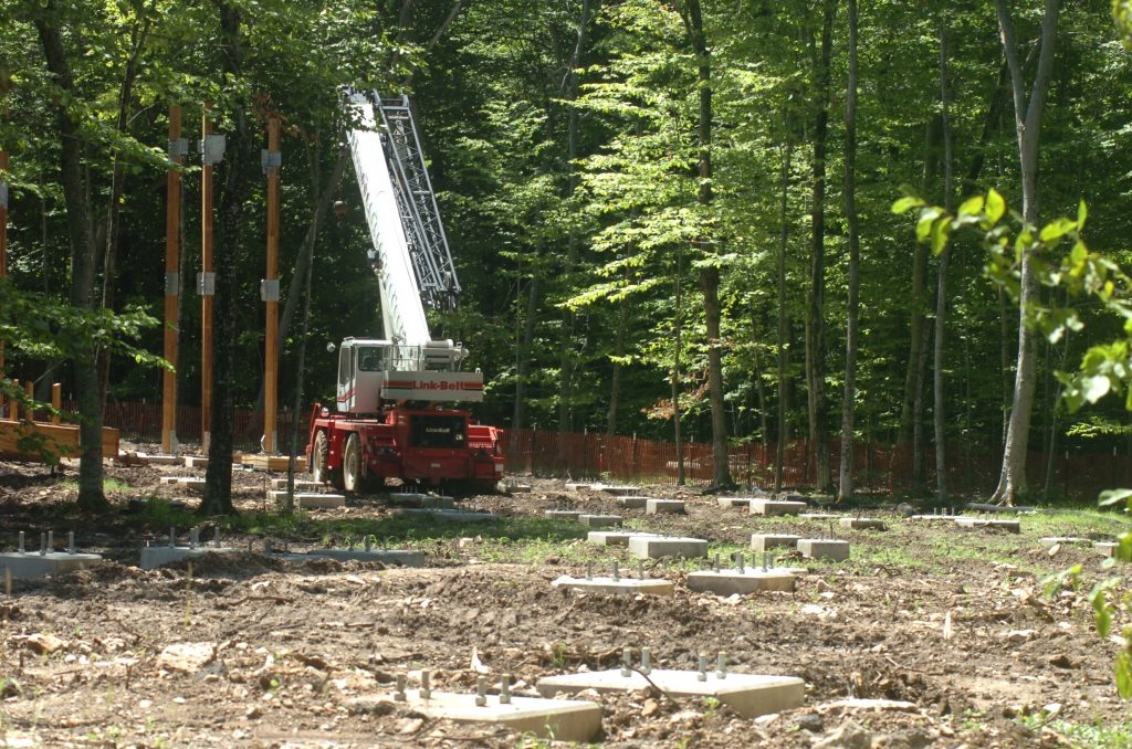 Eagle Tower under construction during the summer of 2020 in Door County's Peninsula State Park. DCSR photo.