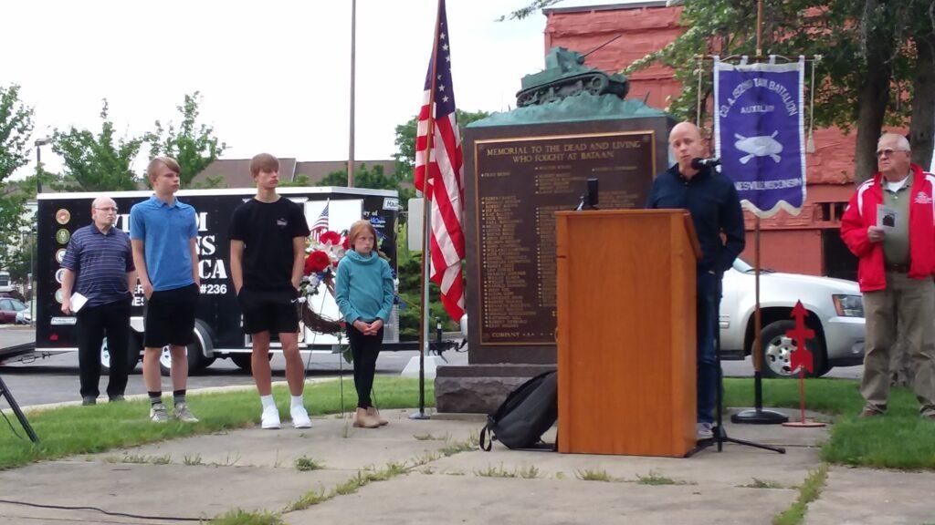 Brian Lawton, grandson of 1st Sgt. Dale Lawton.