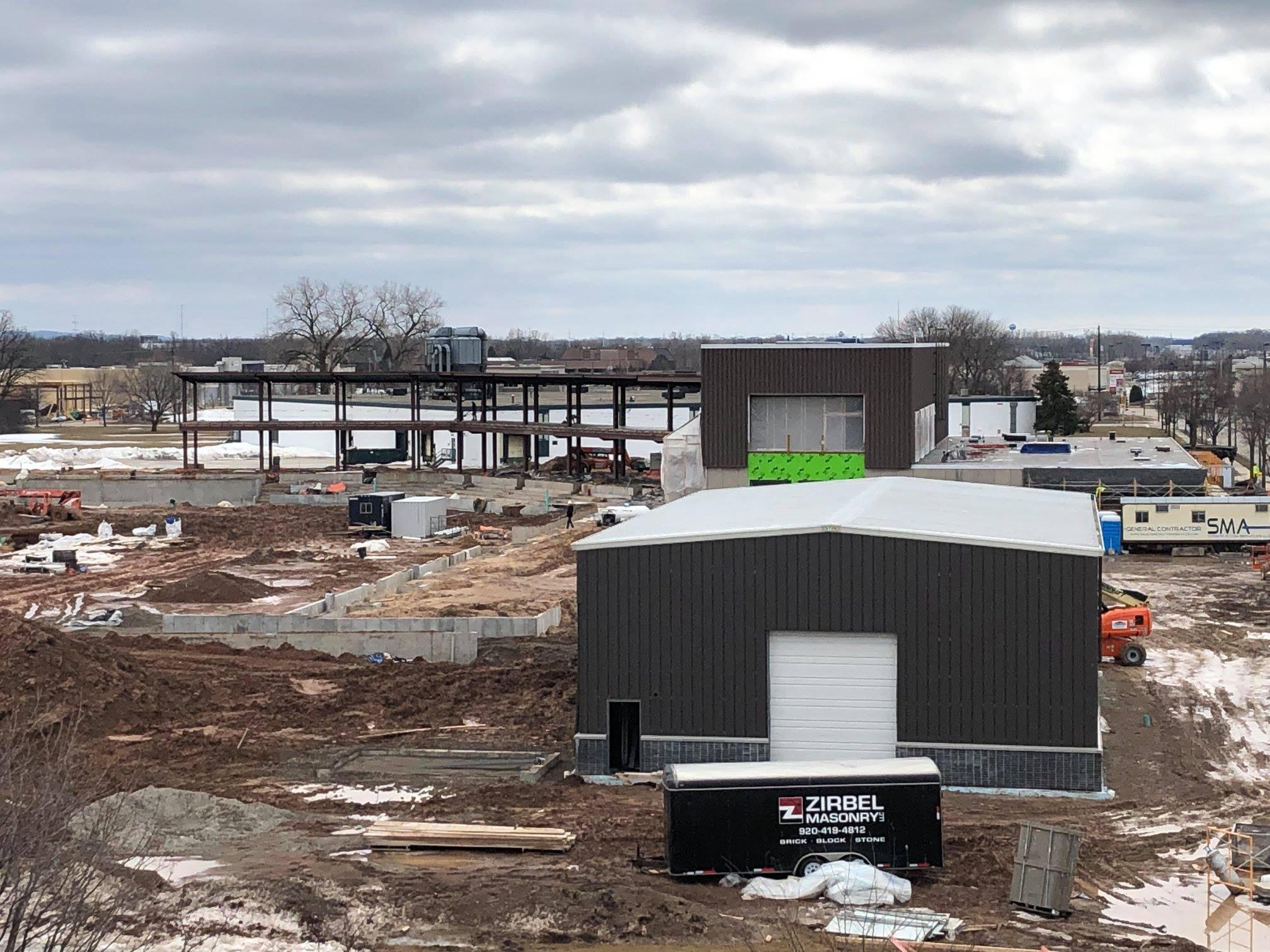 Capital Credit Union Park under construction, March 2019.